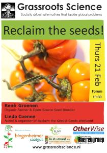 poster grassroots science - Reclaim the Seeds