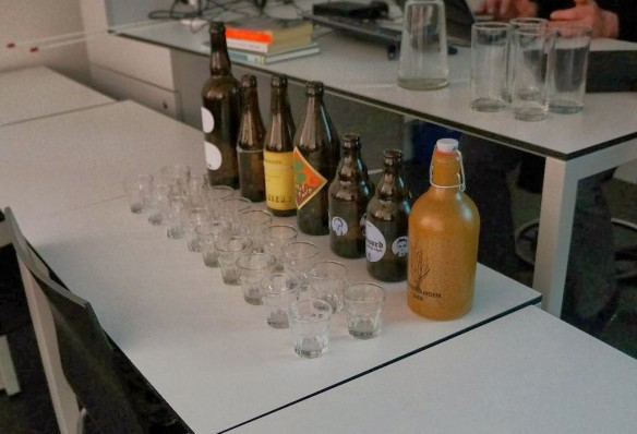 Different beers brewed from surface water by Henriette de Waal