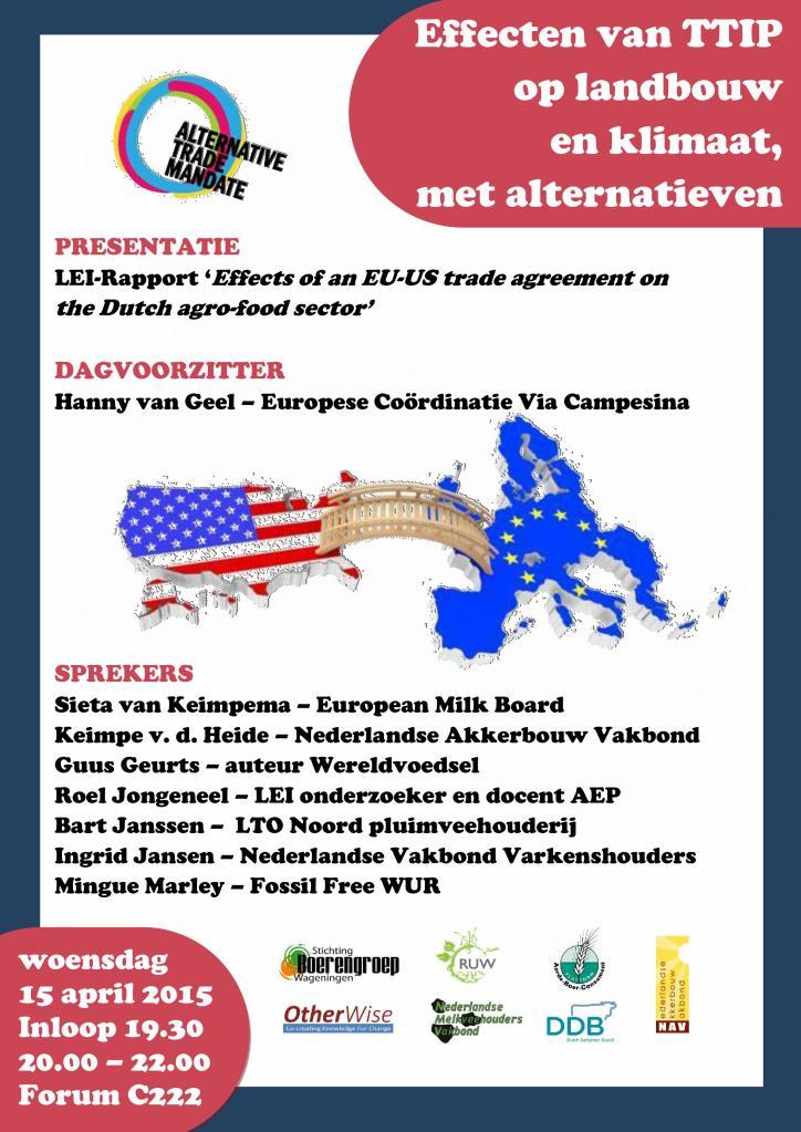 15-04-15 Poster TTIP-debat Wageningen